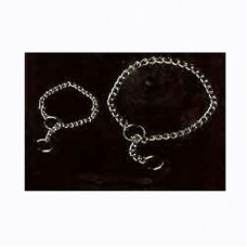 DOG COLLAR CHOKE CHAIN CHROME