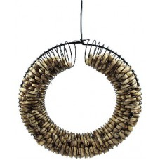 BIRD FEEDER PEANUT WREATH BLCK 12.5IN L&H 2.75IN W