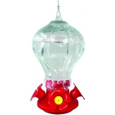 BIRD FEEDER HUMMINGBIRD FLUTD GLASS 30OZ