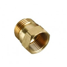 CONNECTOR HOSE SOLID BRASS