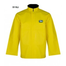 RAIN JACKET PVC/POLY YELLOW
